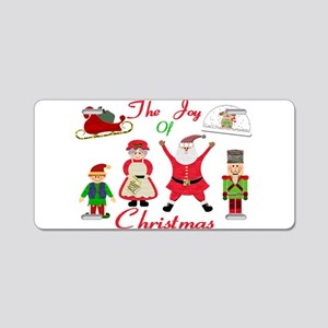 The Joy Of Christmas Collag Aluminum License Plate