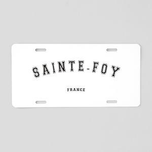 Sainte-Foy France Aluminum License Plate