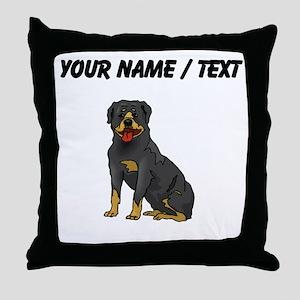 Rottweiler (Custom) Throw Pillow
