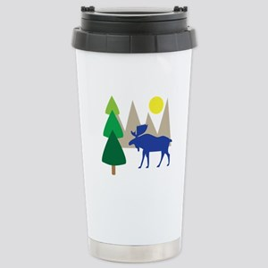 Moose Scene Travel Mug