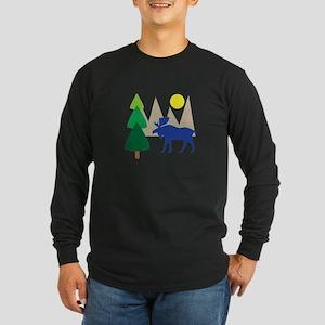 Moose Scene Long Sleeve T-Shirt