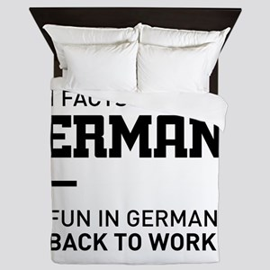 Fun facts about germany – no fun in ge Queen Duvet