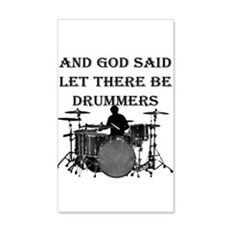 Drummers God Made Wall Decal