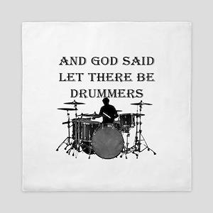Drummers God Made Queen Duvet