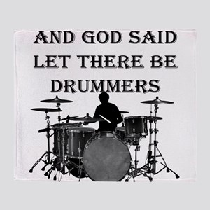 Drummers God Made Throw Blanket
