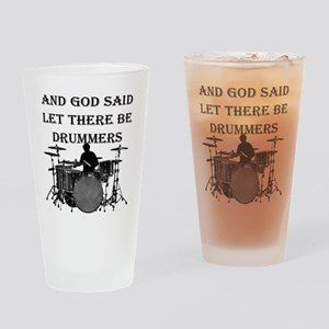Drummers God Made Drinking Glass