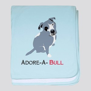Grey Pittie Puppy Adore-A-Bull baby blanket