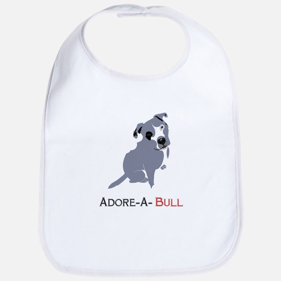 Grey Pittie Puppy Adore-A-Bull Bib