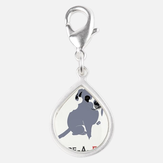 Grey Pittie Puppy Adore-A-Bull Charms