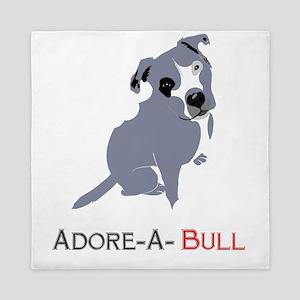 Grey Pittie Puppy Adore-A-Bull Queen Duvet