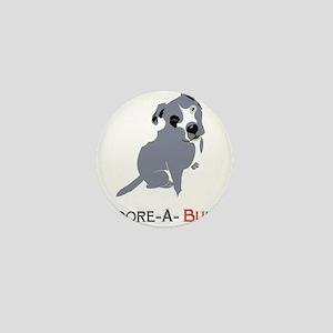 Grey Pittie Puppy Adore-A-Bull Mini Button