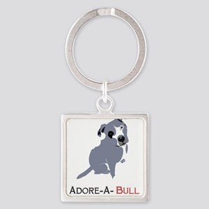 Grey Pittie Puppy Adore-A-Bull Keychains