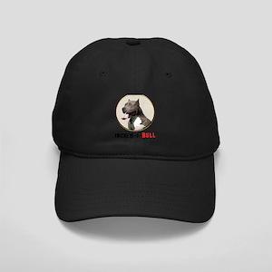 Grey White Pitbull Incred-i-Bull Black Cap