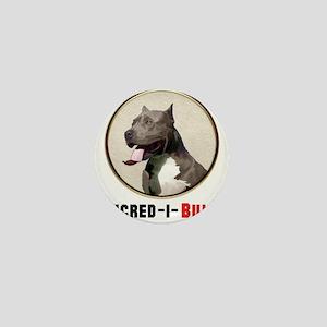 Grey White Pitbull Incred-i-Bull Mini Button