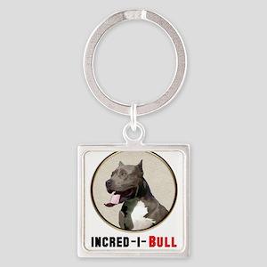 Grey White Pitbull Incred-i-Bull Keychains