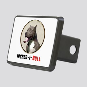 Grey White Pitbull Incred Rectangular Hitch Cover