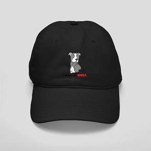 Grey White Pitbull Hug-a-Bull Black Cap