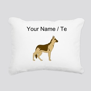 German Shepherd (Custom) Rectangular Canvas Pillow