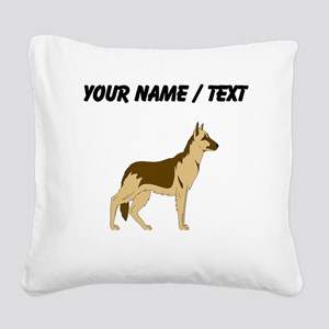 German Shepherd (Custom) Square Canvas Pillow
