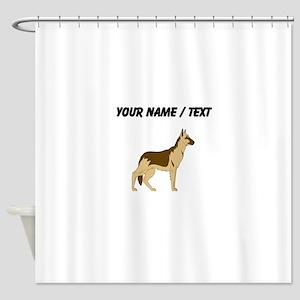 German Shepherd (Custom) Shower Curtain