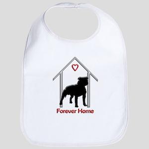 Forever Home Logo Pitbull Black Bib