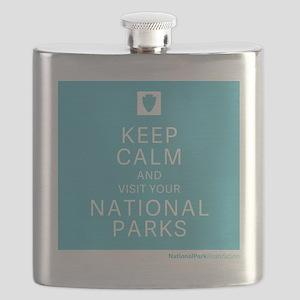 NPF keep calm blue Flask