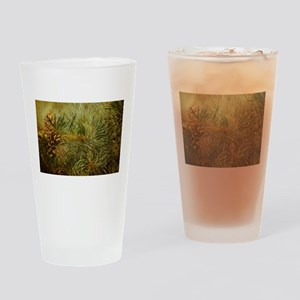 Pine Bough Composition Drinking Glass
