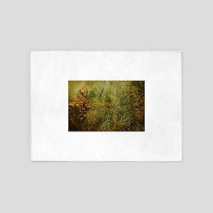 Pine Bough Composition 5'x7'Area Rug