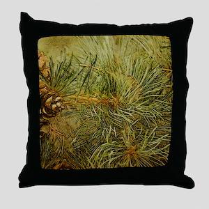 Pine Bough Composition Throw Pillow
