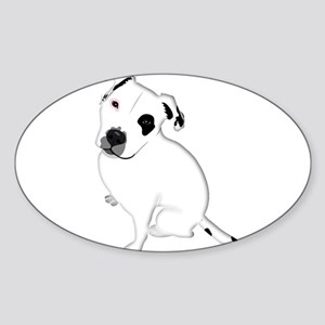 Cute Pitbull PuppyWhite Shaded Sticker