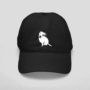 Cute Pitbull PuppyWhite Shaded Black Cap