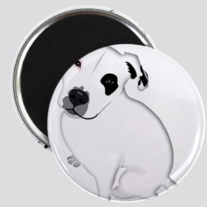 Cute Pitbull PuppyWhite Shaded Magnets