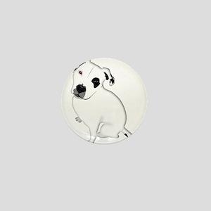 Cute Pitbull PuppyWhite Shaded Mini Button