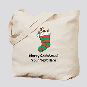 Cute Christmas Stocking Decoration Tote Bag