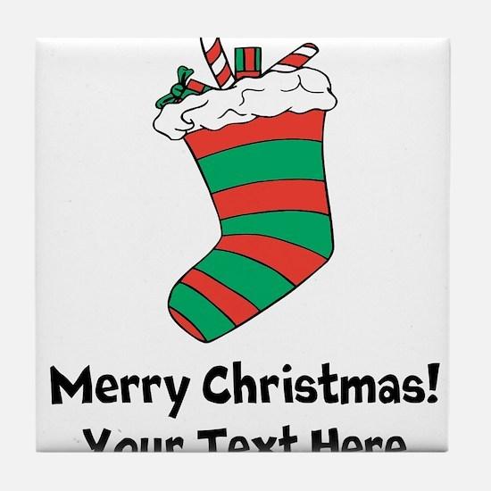 Christmas stocking Tile Coaster