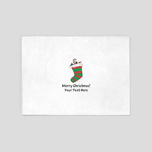 Christmas stocking 5'x7'Area Rug