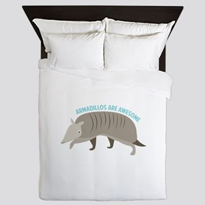 Armadillo_Armadillos_Are_Awesome Queen Duvet