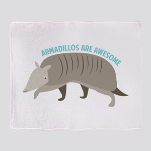 Armadillo_Armadillos_Are_Awesome Throw Blanket
