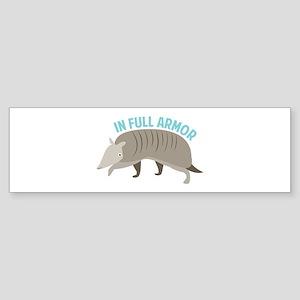 Armadillo_In_Full_Armor Bumper Sticker