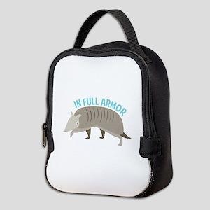Armadillo_In_Full_Armor Neoprene Lunch Bag