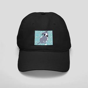 Cute grey pit Bull square pattern Black Cap