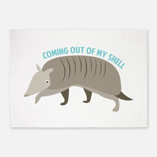 Armadillo_Coming_Out_Of_My_Shell 5'x7'Area Rug