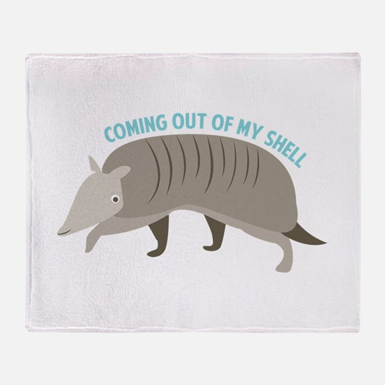 Armadillo_Coming_Out_Of_My_Shell Throw Blanket
