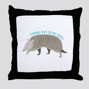 Armadillo_Coming_Out_Of_My_Shell Throw Pillow