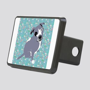 Cute grey pit Bull square Rectangular Hitch Cover