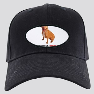 Cute Brown Pittie Love-a-Bull Black Cap