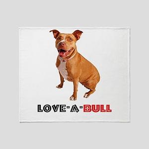 Cute Brown Pittie Love-a-Bull Throw Blanket