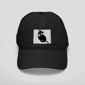 Cute black pit Bull rain pattern Black Cap