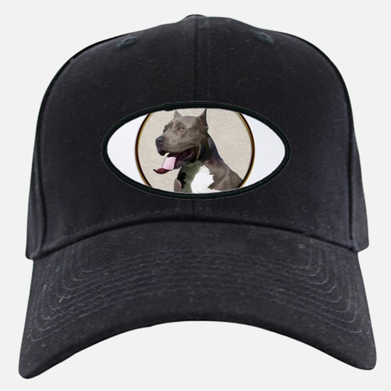 Black White Pit Bull Baseball Hat