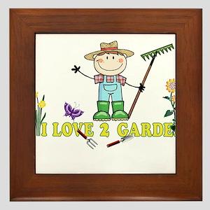 Light Guy Farmer brunette I LOVE 2 GAR Framed Tile